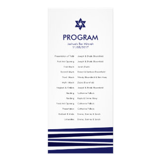 Tallit Bar Mitzvah Program 10 Cm X 23 Cm Rack Card