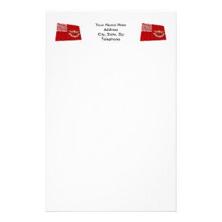Tallmadge's Dragoons Waving Flag Personalized Stationery