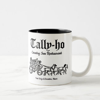 Tally-Ho Restaurant, Park Ridge & Evanston, IL Two-Tone Coffee Mug