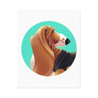 Tallydog Circle of Friends Basset Hound Canvas Print