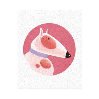 Tallydog Circle of Friends Bull Terrier Canvas Print