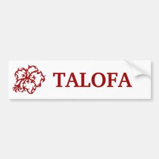 TALOFA BUMPER STICKER