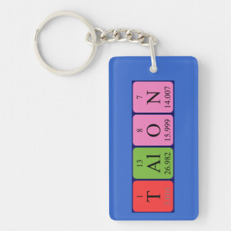 Talon periodic table name keyring