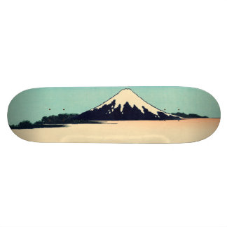 Tama River in Musashi Province 21.3 Cm Mini Skateboard Deck