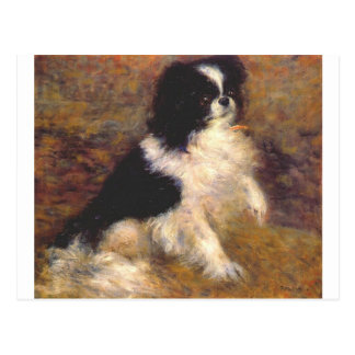 Tama the japanese dog by Pierre-Auguste Renoir Postcard
