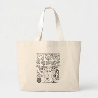 Tamale Festival Line Art Design Large Tote Bag