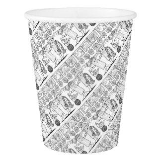 Tamale Festival Line Art Design Paper Cup