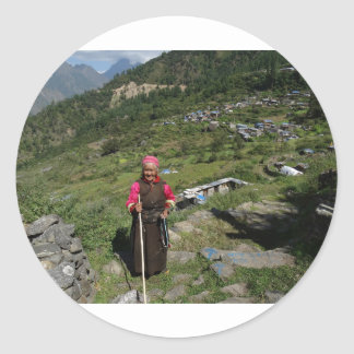Tamang Heritage Trail, Langtang, Nepal Classic Round Sticker