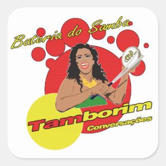 Tamborim Batucada de Samba Square Sticker