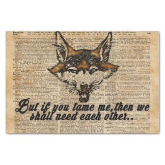 Tame Me - Dictionary Art Tissue Paper