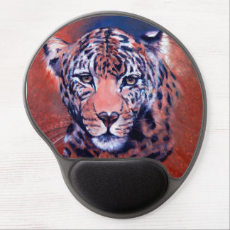 TAME wildlife collection, leopard on measured Gel Mouse Pad