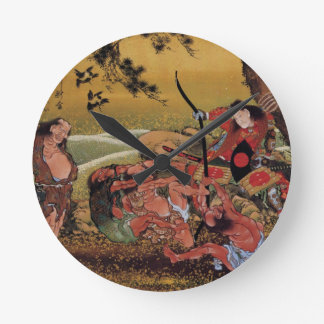 Tametomo on Demon Island Wall Clocks