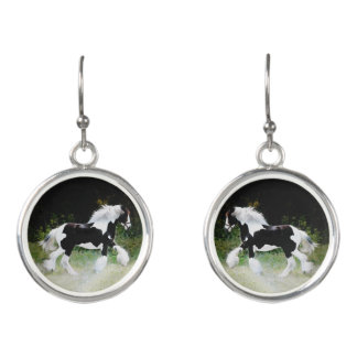 """""""Tamlin"""" Horse Drop Earrings"""