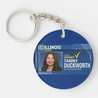 Tammy Duckworth Projected Winner Key Ring