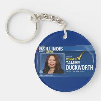 Tammy Duckworth Projected Winner Single-Sided Round Acrylic Key Ring
