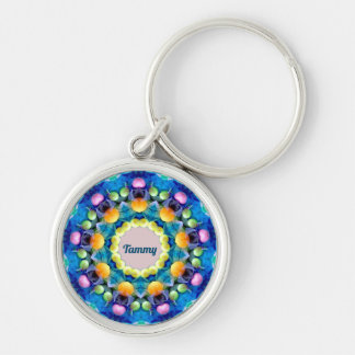 TAMMY ~ Personalized Easter Pattern Fractal ~ Key Ring