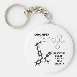 Tamoxifen Inhibiting Breast Cancer Cell Growth Key Chains