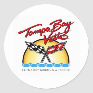 Tampa Bay Corvette Classic Round Sticker