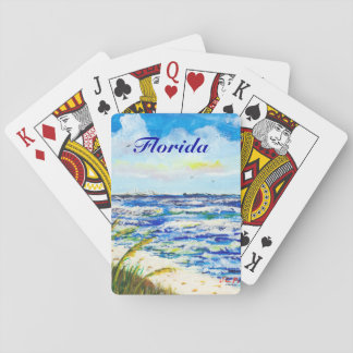 Tampa Bay Florida Beach Sunshine Skyway Bridge Playing Cards