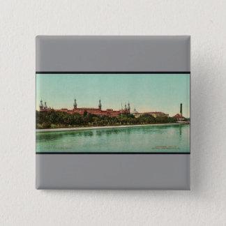 Tampa Bay Hotel classic Photochrom 15 Cm Square Badge