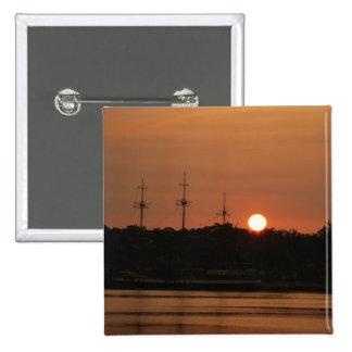 Tampa Bay Sunset & Pirate Ship... 15 Cm Square Badge