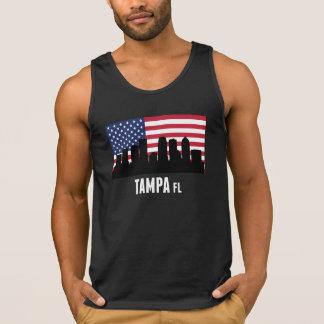 Tampa FL American Flag Singlet