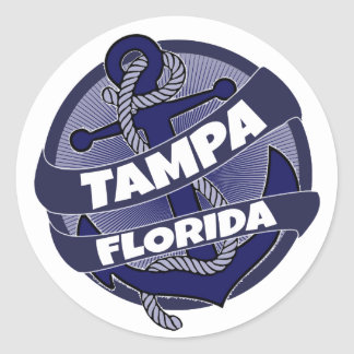 Tampa Florida anchor stickers
