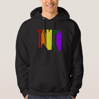 Tampa Florida Gay Pride Rainbow Skyline Hoodie
