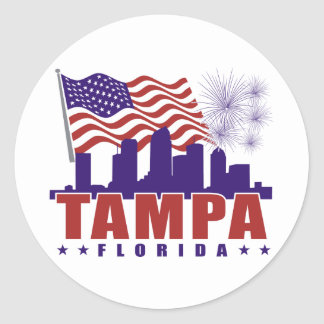 Tampa Florida Patriotic Sticker