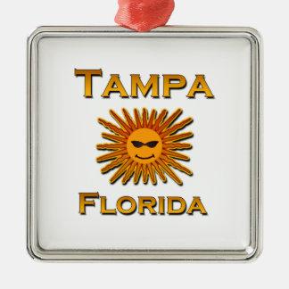 Tampa Florida Sun Logo Metal Ornament
