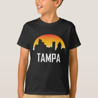 Tampa Florida Sunset Skyline T-Shirt