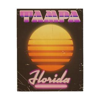 Tampa Florida vintage 80s travel poster