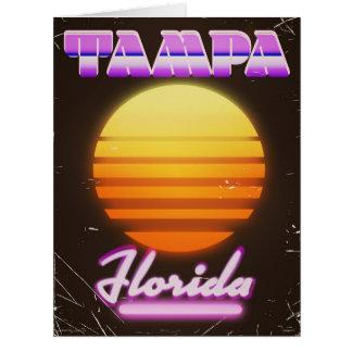 Tampa Florida vintage 80s travel poster Card