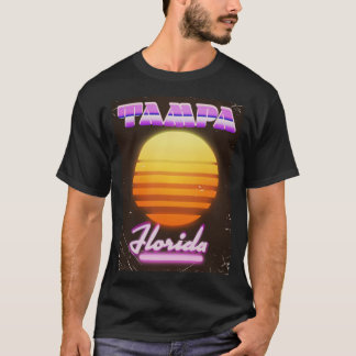 Tampa Florida vintage 80s travel poster T-Shirt