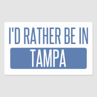 Tampa Rectangular Sticker