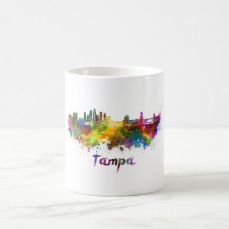 Tampa skyline in watercolor coffee mug