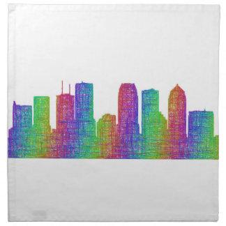 Tampa skyline napkin