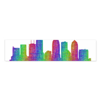 Tampa skyline napkin band