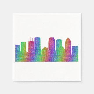 Tampa skyline paper napkin