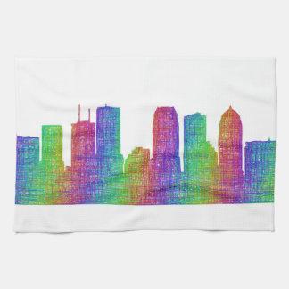 Tampa skyline tea towel