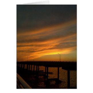 Tampa Sunset at the causeway Card