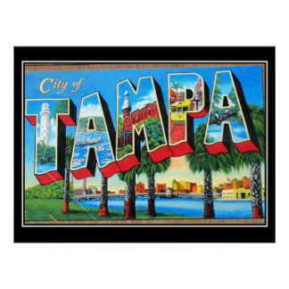 Tampa Vintage Poster City of Tampa