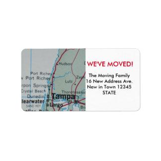 Tampa We've Moved label
