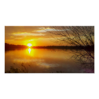 Tampier Lake Sunset Poster