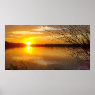 Tampier Lake Sunset Poster