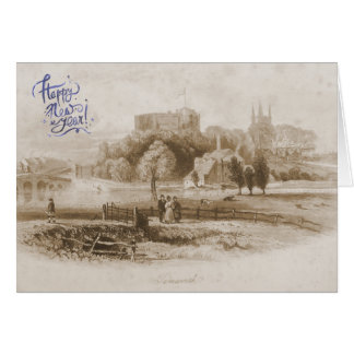 Tamworth Castle & Mill Happy New Year Card