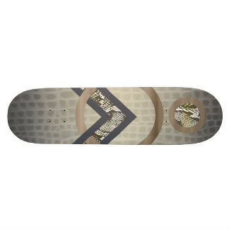 Tan Abstract Snakeskin Tortoise Shell Deck 21.3 Cm Mini Skateboard Deck