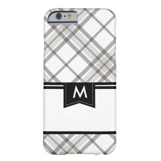 Tan and Black Plaid Monogram iPhone 6 Barely There iPhone 6 Case