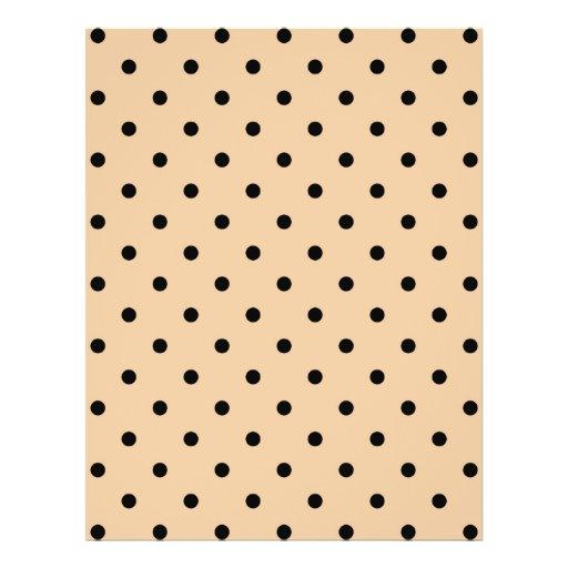 Tan and Black Polka Dot Pattern. Custom Flyer