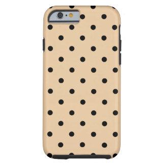 Tan and Black Polka Dot Pattern. Tough iPhone 6 Case